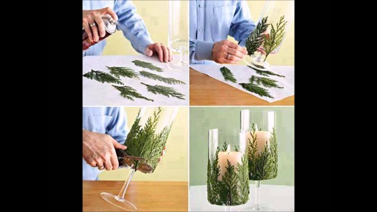 Diy id e d co bougies de noel facile faire youtube - Idee deco de table noel ...