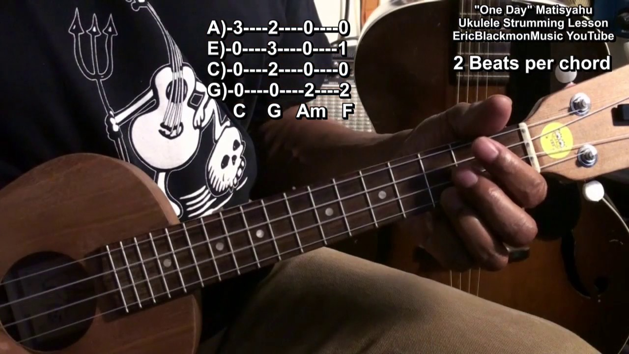 How To Play One Day Matisyahu On Ukulele Lesson Life Vest Boomerang