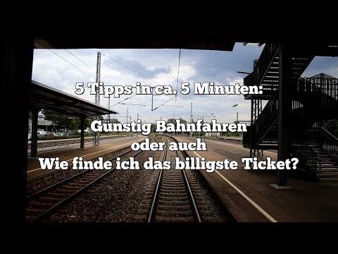 5 Tipps für billiges Bahnfahren - Bahntickets zu günstigen Preisen