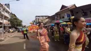 Lao new year 2014 @ Samsenthai St Vientiane Laos