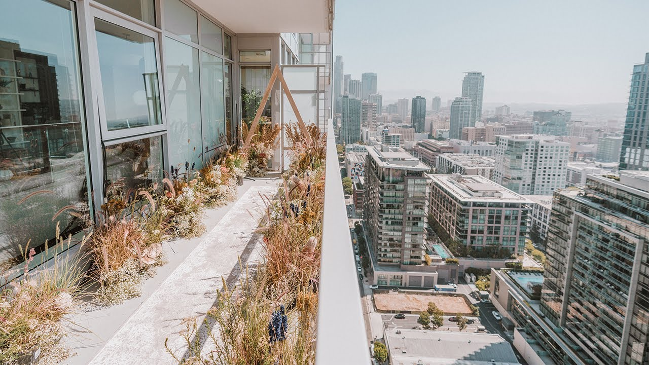 My DIY Balcony Aisle Decor (Eden in the City!) | MY BALCONY WEDDING - PART 5