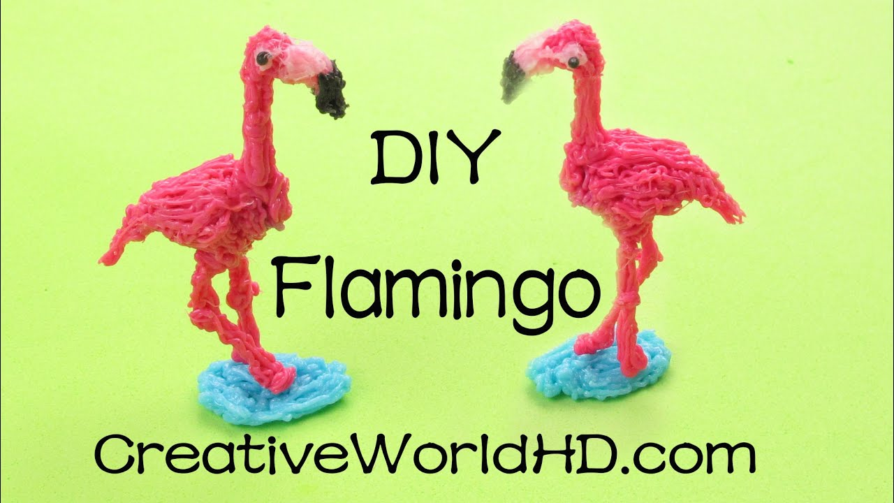 how to make flamingo 3d printing pen creations scribbler diy