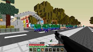 Захват Базы ФБР. День 9.  Зомби Апокалипсис в Майнкрафт