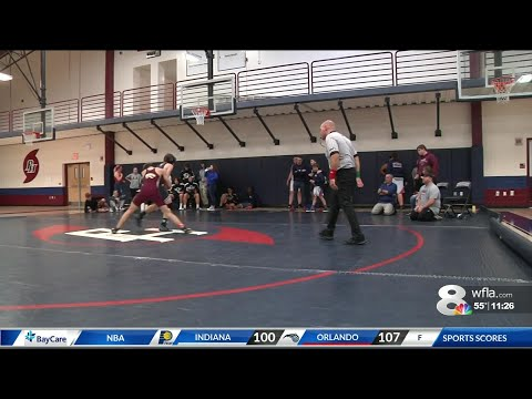 a wrestler at Palm Harbor University High School is breaking barriers