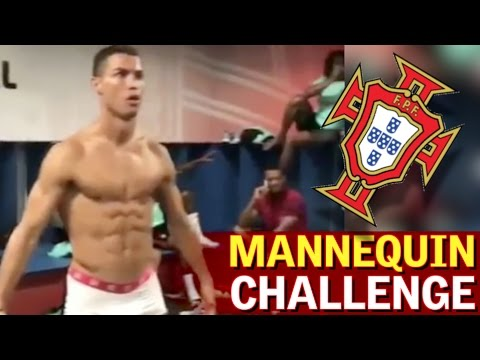 Cristiano Ronaldo, semidesnudo en el'Mannequin challenge' de Portugal