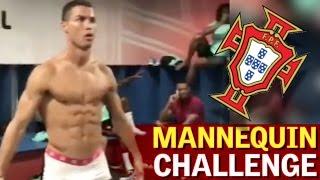 cristiano ronaldo semidesnudo en el mannequin challenge de portugal
