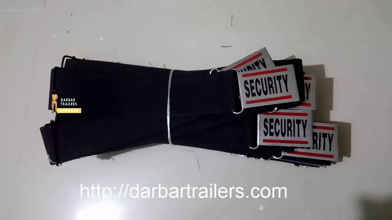 Security Guard Belt Supplier Darbar Trailers