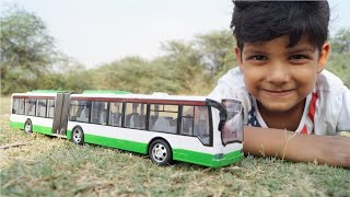 Kids Play With Rc Bus Unboxing & Testing With Remote Control For Kids