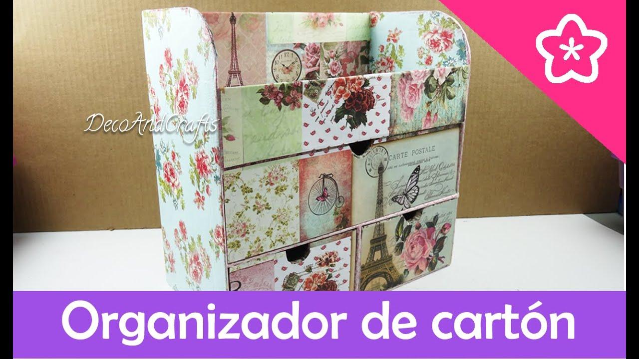 Cajonera organizador de cart n multiusos decoandcrafts - Imagenes de muebles de carton ...