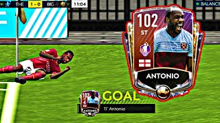 TRAINED TO 102 OVR POTM ANTONIO GAMEPLAY & REVIEW! THE BEST STRIKER IN FIFA MOBILE! FIFA MOBILE 20!