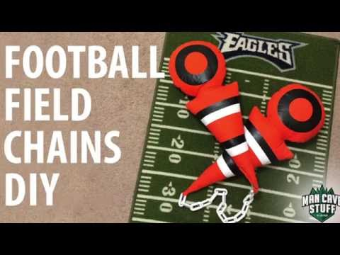 DIY First Down Chains | Man Cave Football Project for College or NFL Fans