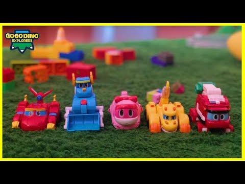 Mainan Petak Umpet Sama Gogo Dino Explorers - Dinosaurus Robot Transformers