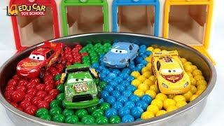 Learning Color Special Disney Pixar Cars Lightning McQueen Mack Truck Color Ball for kids car toys