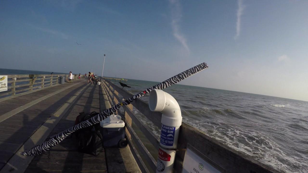 New fishing pier galveston tx 4k youtube for Galveston pier fishing