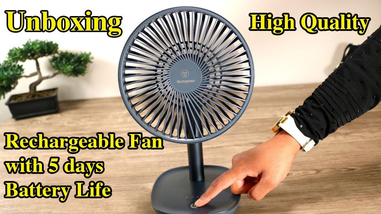 High Quality Rechargeable Fan - Portable Table Fan Germio Ka Tohfa, Battery Operated fan Urdu/Hindi