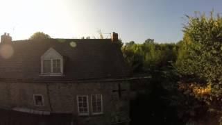 dji phantom drone over godfreyhole derbyshire uk