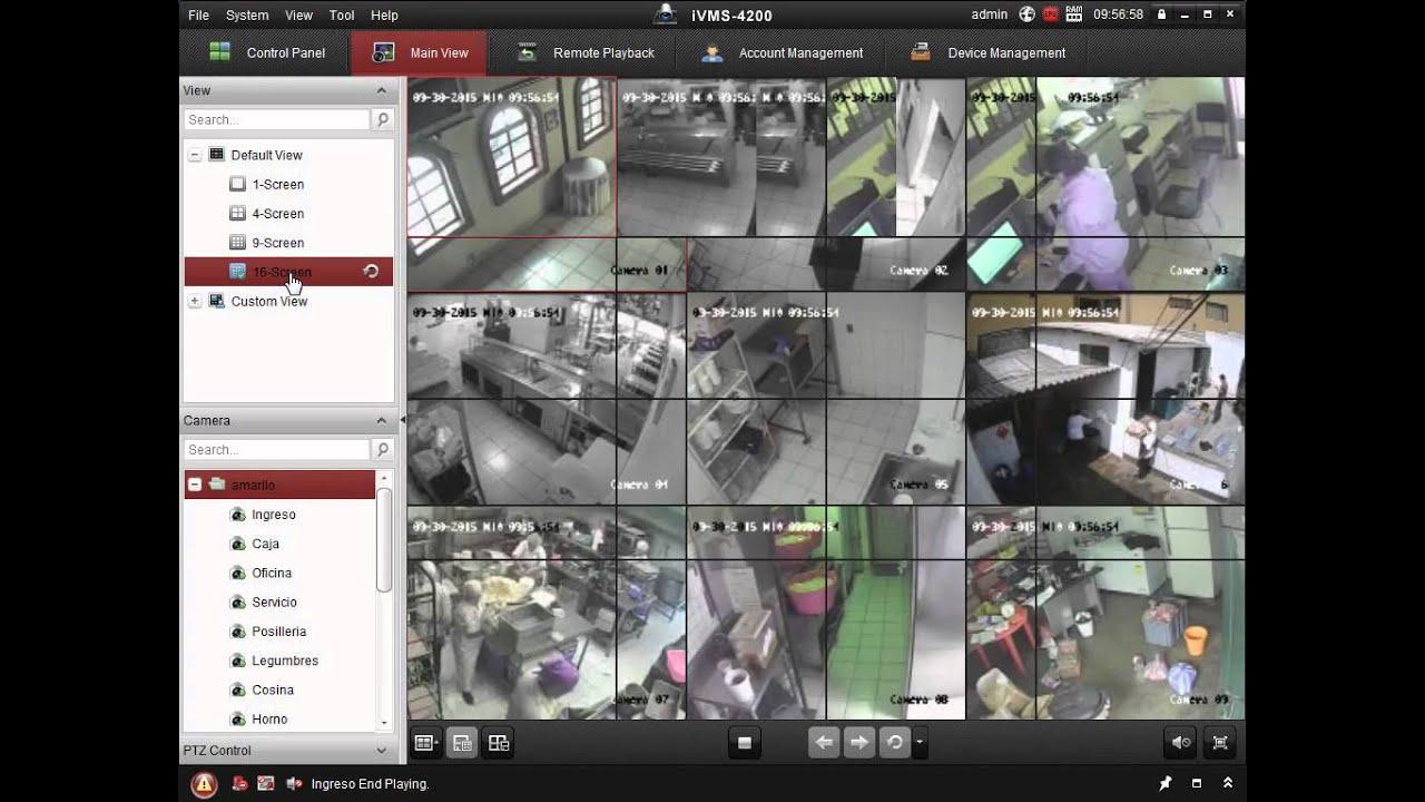 Visualizar DVR Hikvision en iVMS 4200 - Hikvision Pc Based Dvr