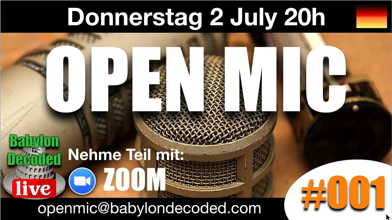 OPEN MIC #001 Deutsch - 2 July 2020