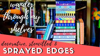 Beautiful Sprayed Edges | Decorative, stencilled & painted book edge treatments