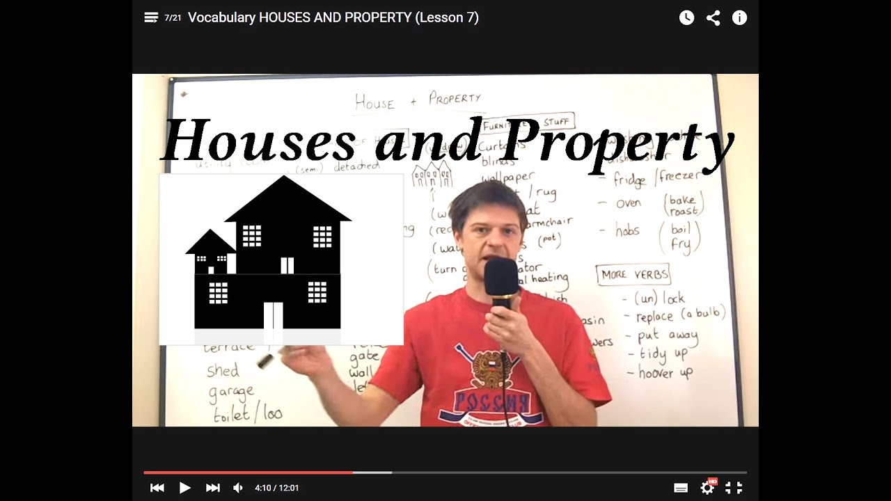 Vocabulary HOUSES AND PROPERTY (Lesson 7)