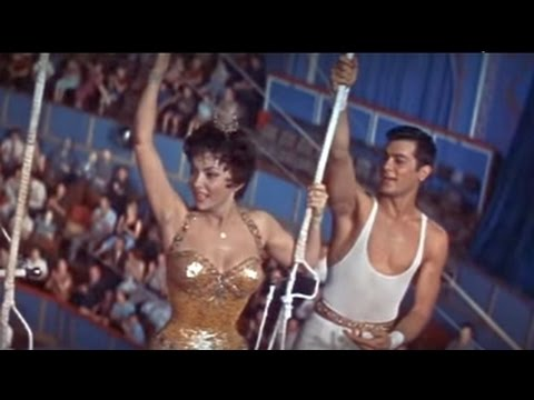 TRAPEZE 1956 film highlights  Gina Lollobrigida, Tony Curtis