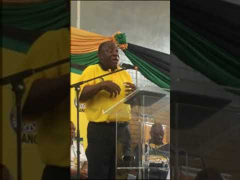 """Cyril Ramaphosa - """"ANC belongs to you, and it needs to have active branches"""""""