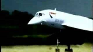 Concorde music from Enya http://www.youtube.com/watch?v=zXpulL9ZXGU.