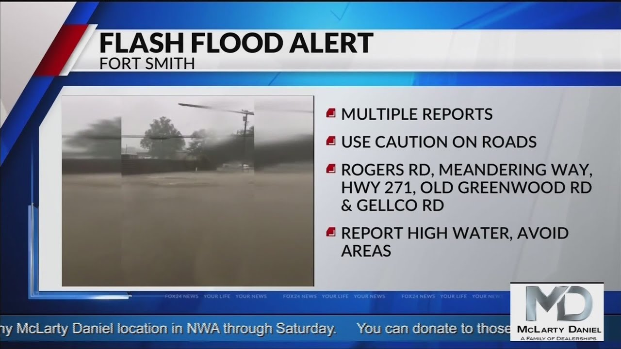 Fort Smith police: flash flooding is happening across the city