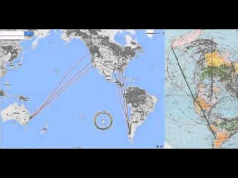 The Flat Earth, The Southern Hemisphere and Flight Paths
