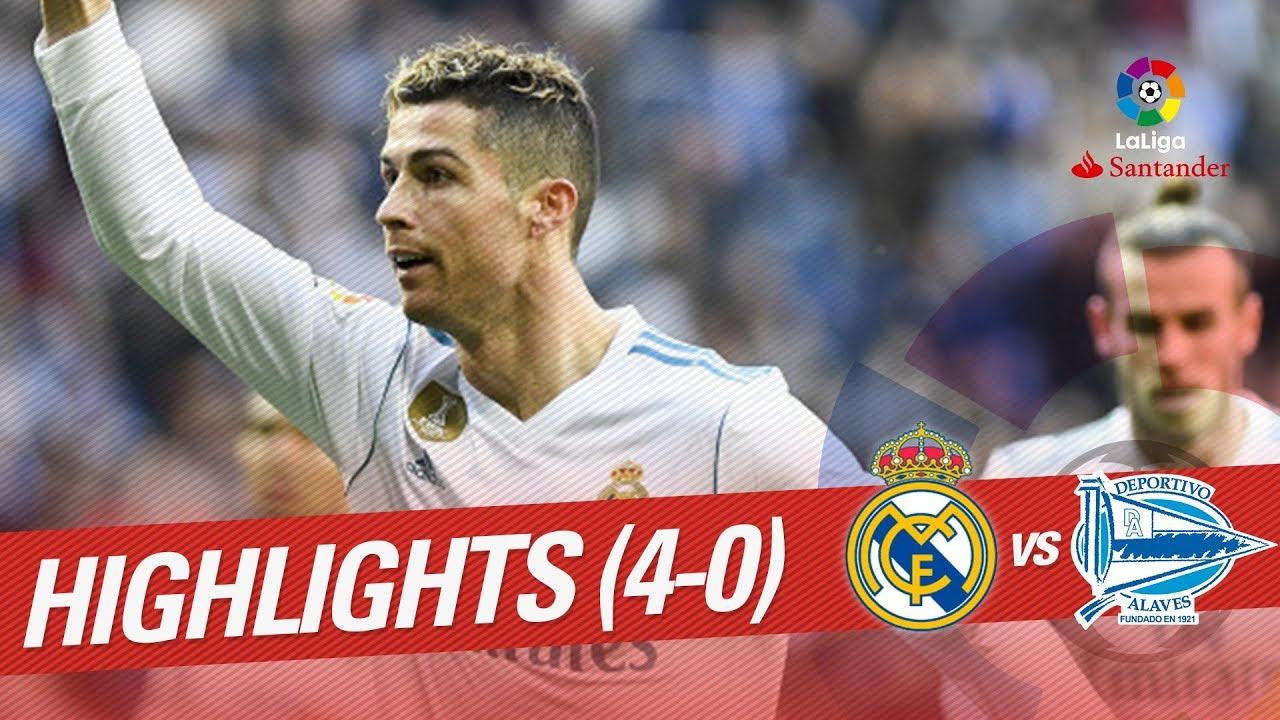 Resumen De Real Madrid Vs Deportivo Alavés 4 0 Youtube