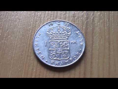 1 Swedish krona coin - Plikten Framför Allt