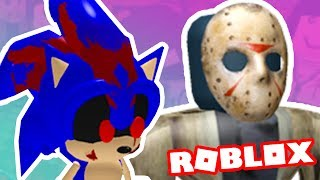 Sonic. EXE AND JASON KILLED ME IN THE ELEVATOR OF ROBLOX!! → Roblox Funny moments #27 🎮