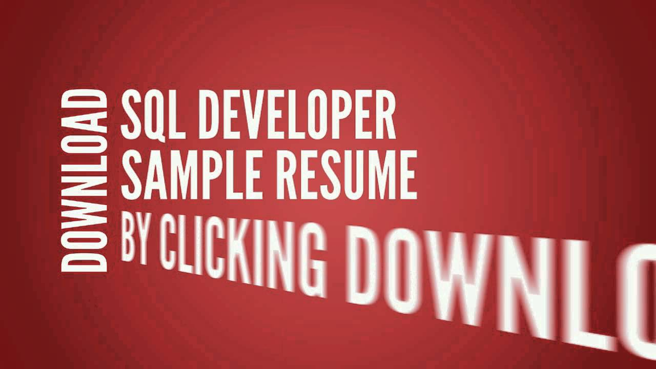 sql developer resume cv writing tips examples youtube