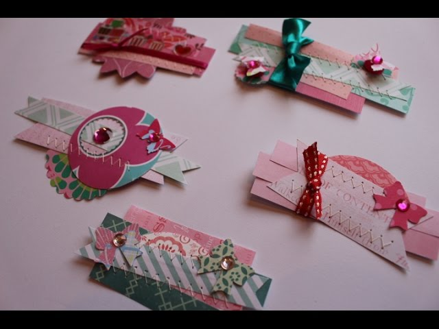 Make your own embellishments using your paper scraps