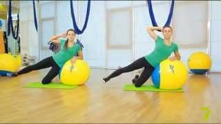 Зарядка с KADORR Fitness. Упражнения с фитболом. Урок 2