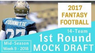 Re-Drafting the 2017 Fantasy Football Draft - 8 Week Later