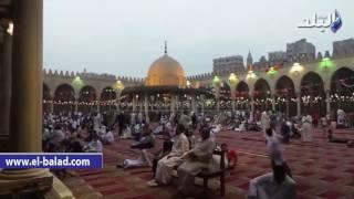 بالفيديو.. تكبيرات صلاه العيد من مسجد عمرو بن العاص
