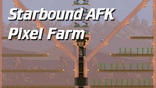 Starbound Automated Pixel Monster Farm (AFK farm design)