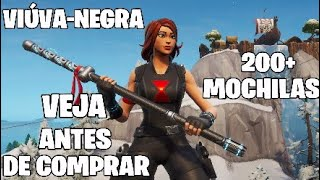 NOUVEAU - SKIN BLACK WIDOW FORTNITE 200 - BACKPACKS! QUOI MEILLEUR SKIN COMBOS ET RUCKSACK FORTNITE?