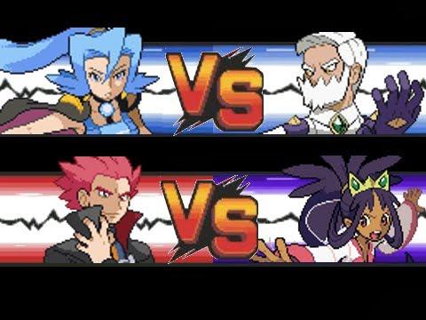 Pokemon: Lance & Clair VS Iris & Drayden - YouTube