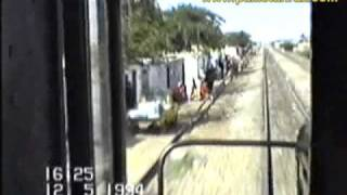 Trip aboard PR locomotive GMU30 hauling Mehran Express to MirpurKhas (1994)