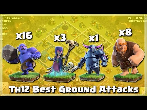 Pekka+ 16 Bowler+ 8 Giants+ 3 Witch= Best Th12 Attacks | TH12 War Strategy #71 | COC 2018 |