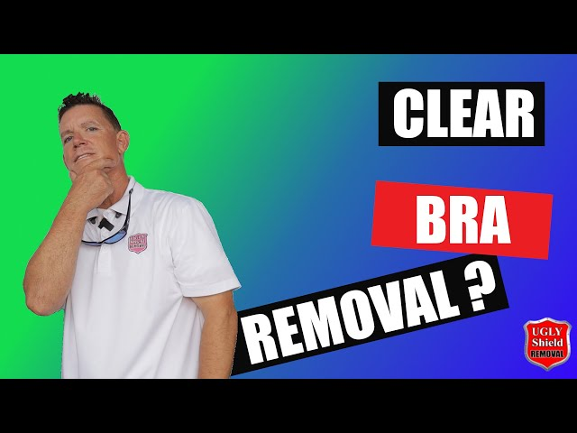 Clear Bra Removal for Paint Protection Film: The Easy Way