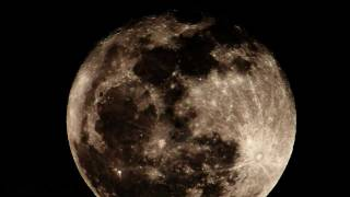 Huge Full Moon Rise - Realtime 2600mm 720p HD V10798a