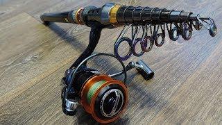 видео Все для рыбалки на Алиэкспресс: карбоновые телескопические удочки