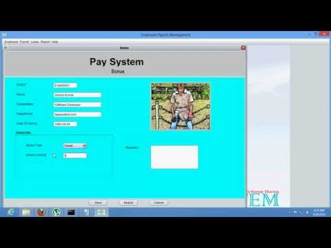 Employee Payroll Management(Pay System) - YouTube