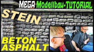 MEGA Modellbau-TUTORIAL: Beton, Asphalt, Stein   Moba-Verladung für Berlin #kunstmichiworld 014