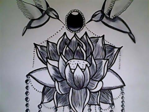 Dibujo De Flor De Loto Youtube