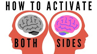 How to activate both sides of brain | 40 seconds activity