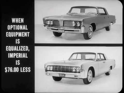 1964 Imperial Versus Lincoln Comparison Dealer Promo Film